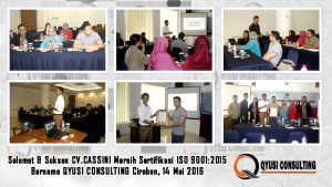 training iso 9001 2015 cv cassini cirebon