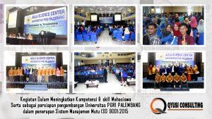 universitas PGRI Palembang adakan training iso 9001 mahasiswa