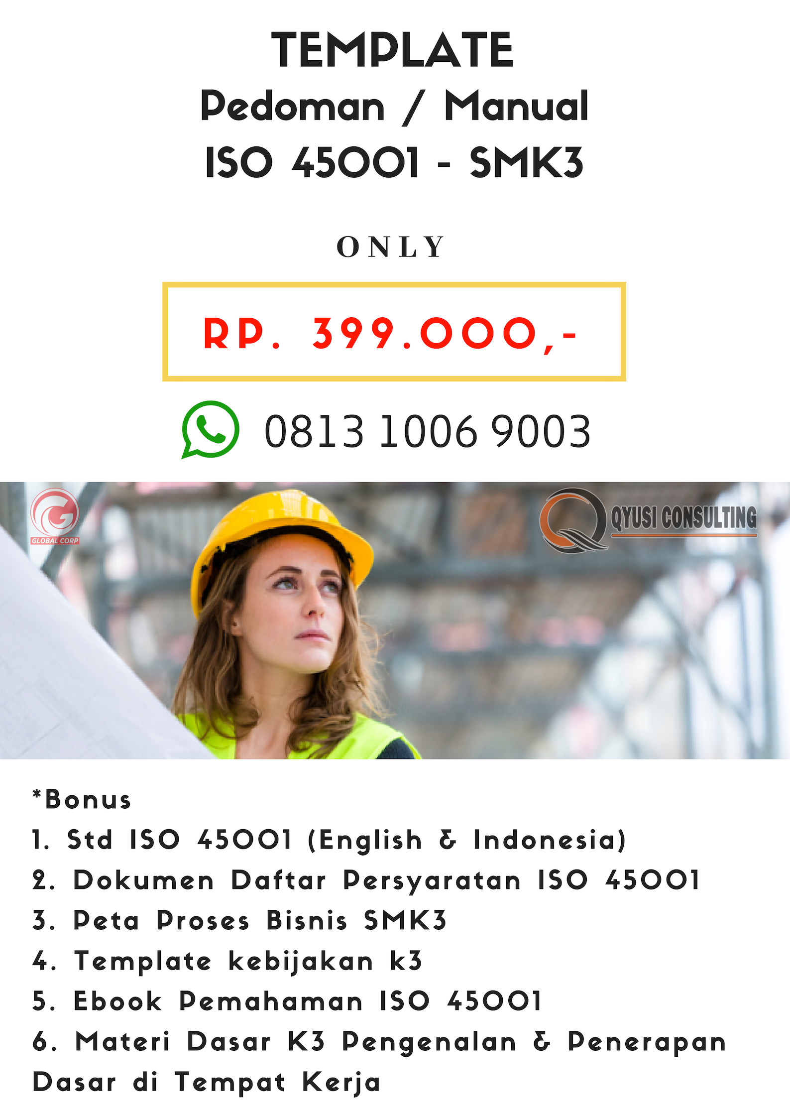 Dokumen ISO 45001 smk3 tempalate