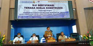 Uji Sertifikasi Tenaga Kerja Kontruksi Pemkab Boltim Libatkan Balai Jasa Kontruksi Wilayah VI Makasar