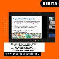 Bulan K3 Nasional, BPJS Ketenagakerjaan se-Jakarta Pusat Laksanakan Webinar K3 Secara Berbarengan.