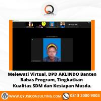 Melewati Virtual, DPD AKLINDO Banten Bahas Program, Tingkatkan Kualitas SDM dan Kesiapan Musda.